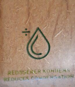 Träfiber reducerar fukt