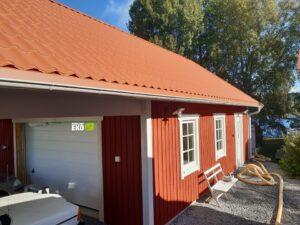 Garage i Brån som ska isoleras med träfiberisolering