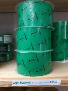 Grön byggtejp 75mm